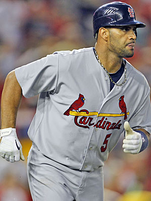 Three-time MVP Albert Pujols enters his 11th season in St. Louis without a contract beyond 2011. (AP)