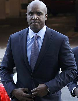 Barry Bonds is charged with four counts of making false statements to a grand jury and one count of obstruction of justice. (AP)
