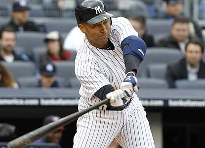 Derek Jeter collects two hits to pass Rogers Hornsby for 33rd place on baseball's all-time list. (AP)