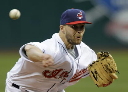 Justin Masterson remains unbeaten after pitching seven strong innings to help the Indians ground the Orioles. (Getty Images)