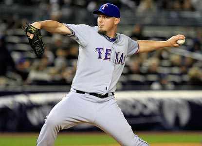 The solid pitching of Matt Harrison helps the Rangers tie an AL record for most double plays in a game with six.  (Getty Images)
