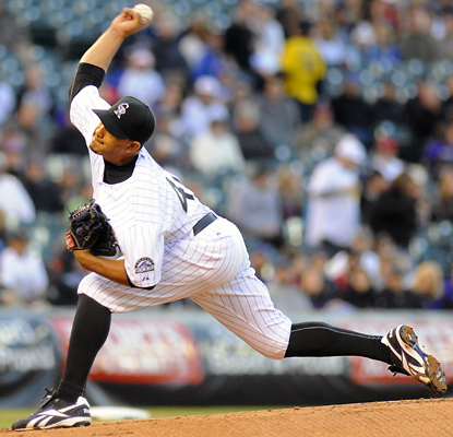 Jhoulys Chacin tosses his first career complete game for the Rockies, allowing six hits in a shutout of the Cubs. (AP)