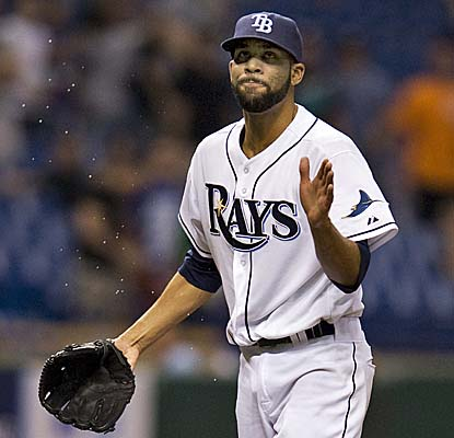 Rays starter David Price wraps up eight dominant innings in which he allows four hits, walks two and strikes out nine. (AP)