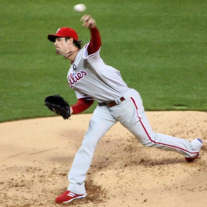 Cole Hamels strikes out eight and walks three during a strong outing against his punchless hometown Padres.  (US Presswire)