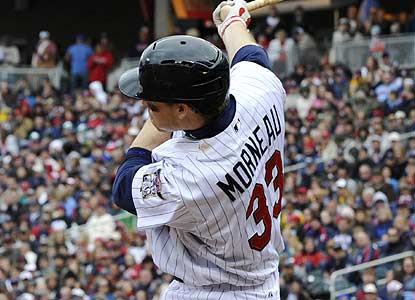 Justin Morneau, who missed the past five games with the flu, drives in two runs with two singles to help the Twins. (AP)