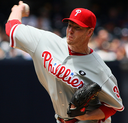 Roy Halladay strings together a gem against the Padres, tying a career-high 14 strikeouts and throwing 130 pitches. (US Presswire)