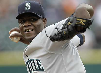 Michael Pineda, 22, strikes out nine in six crisp innings for Seattle, which completes its first Detroit sweep since '03. (AP)