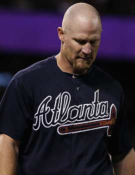 Braves infielder Brooks Conrad says there a lot more lows in the game, especially on the offensive side. (Getty Images)