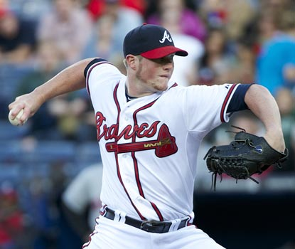 For the second straight night, Craig Kimbrel's inability to hold a tie in the ninth costs Atlanta the game.  (Getty Images)