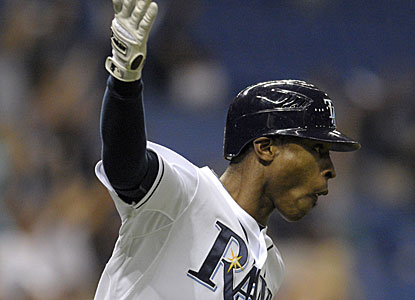 B.J. Upton hits the game-winning, two-run HR to take the spotlight in Evan Longoria's return after a 26-game absence. (AP)