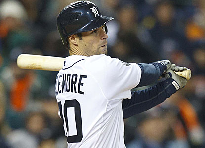 Scott Sizemore has three hits to help Detroit snap a seven-game losing streak. (US Presswire)