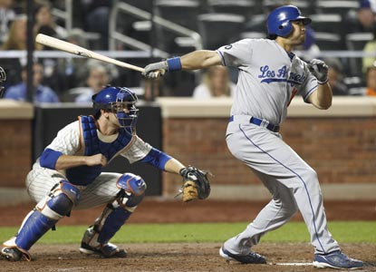 Andre Ethier is the first MLB player in two years to extend a hit streak beyond 30 games. (AP)