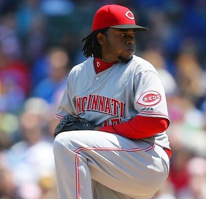 Johnny Cueto looks sharp in his first outing of the year, shutting out the Cubs through six innings of five-hit ball.  (US Presswire)