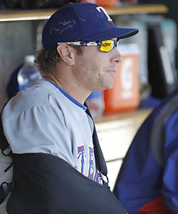Batting practice will be a major hurdle for Josh Hamilton, who has been sidelined since April 12. (Getty Images)
