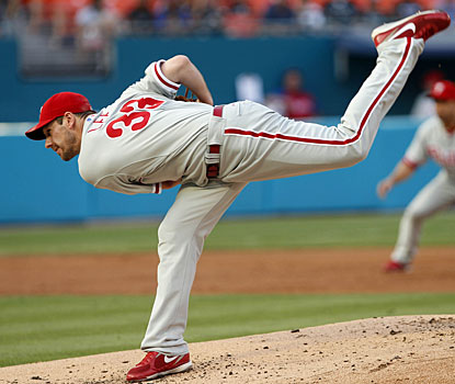 Once again Cliff Lee doesn't get enough run support, trailing 3-1 when he exits in the sixth inning. (AP)