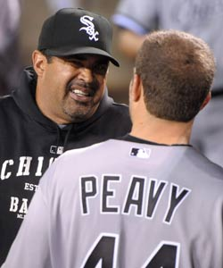 Ozzie Guillen has room for a sixth arm in the rotation with Peavy back. (US Presswire)