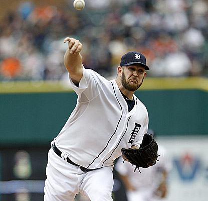 Tigers starter Brad Penny pitches eight scoreless innings vs. the Royals. (AP)