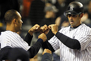 Both debuting in the bigs in 1995, Derek Jeter and Jorge Posada have spent a combined 32 years with the Yankees. (US Presswire)