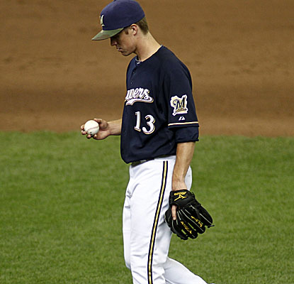 Zack Greinke makes his third start for the Brewers after missing more than a month to injury. (AP)