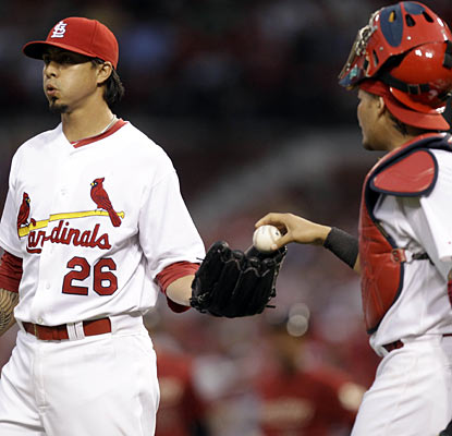 Kyle Lohse yields just one run on six hits in eight innings and has a sparkling 2.17 ERA this season.  (AP)