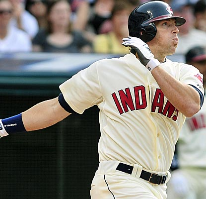 Travis Buck connects for a go-ahead two-run HR in the seventh as the Indians beat Cincy for the second time in two days. (US Presswire)