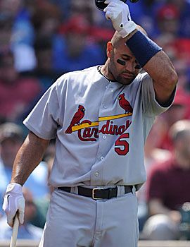 Is Albert Pujols' slump about contract or is he just waiting for 'that' month? (Getty Images)