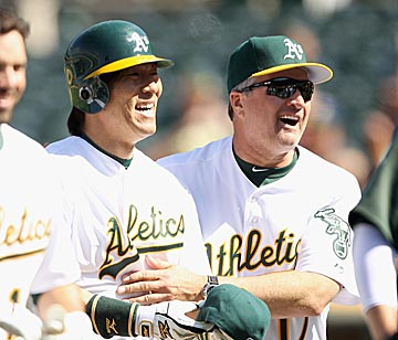 Bob Geren claims there's no communication problem, but some A's would like to see him offer more than postgame 'attaboys.' (Getty Images)