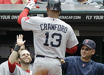 Carl Crawford goes 4 for 4 with two doubles, three runs and two RBI in the rout. (AP)
