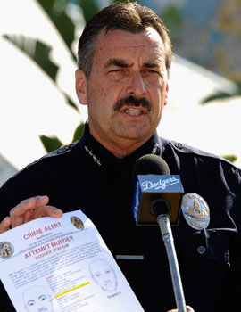 Police Chief Charlie Beck on holding Giovanni Ramirez as the prime suspect: 'I'm as sure as you need to be to make an arrest.' (Getty Images)
