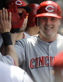 Cincinnati's Jay Bruce has quietly driven in 27 runs in the month of May. (AP)