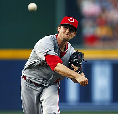 Mike Leake yields only one run on seven hits in six innings for Cincinnati's first win by a starter since May 16.  (US Presswire)
