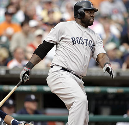 Red Sox DH David Ortiz pops a solo home run in the top of the ninth inning as Boston defeats the Tigers. (AP)