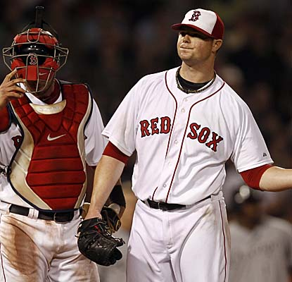Red Sox starter Jon Lester has a rough night, giving up seven runs in just 5 2/3 innings.  (AP)