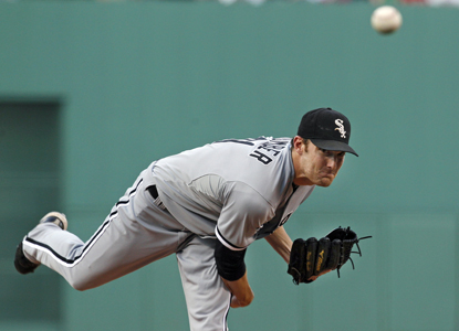 Phil Humber allows nine hits in 7 2/3 innings to help Chicago down Boston in the battle of Sox.  (Getty Images)