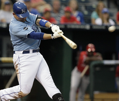 Billy Butler's game-winning blast is originally ruled a double, but video shows it's a home run. (AP)