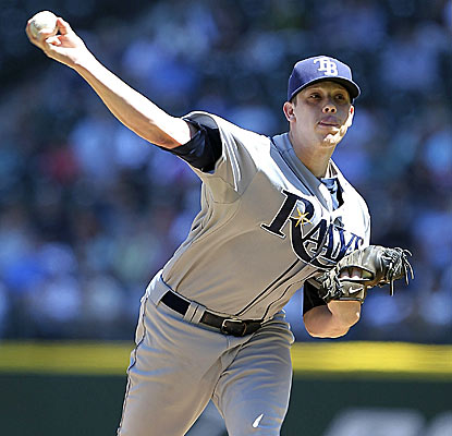 Young Rays starter Jeremy Hellickson is 6-1 with a 1.74 ERA in his last seven starts.  (Getty Images)