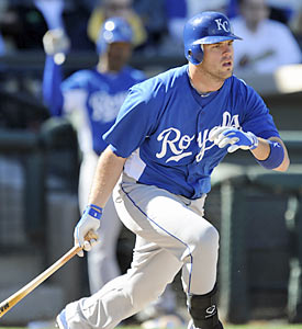 Mike Moustakas, the Royals' first-round pick in 2007, is expected to be the next player to get called up from the minors. (Getty Images)