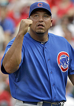 Carlos Zambrano was ready to celebrate a victory Sunday before the Cubs' bullpen intervened. (AP)