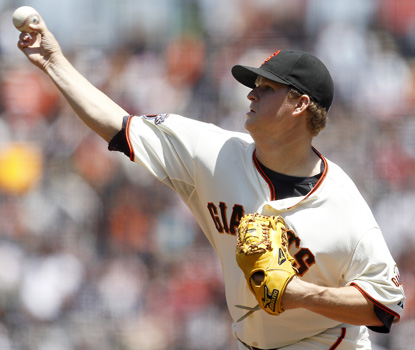 Matt Cain is now 16-0 in the past two years when getting at least three runs of support. (AP)