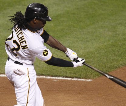 Andrew McCutchen has three hits against Arizona, including this game-winning HR. (AP)