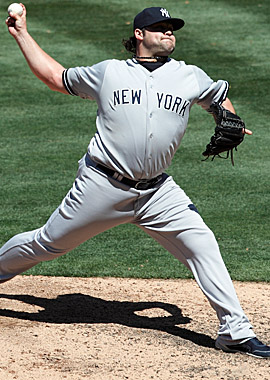 The 41st pick in the 2006 draft, Yanks reliever Joba Chamberlain is in the final year of a four-year contract. (Getty Images)