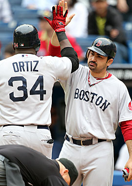 Red Sox slugger Adrian Gonzalez leads the league with 58 RBI, two more than Prince Fielder and three more than Matt Kemp. (AP)