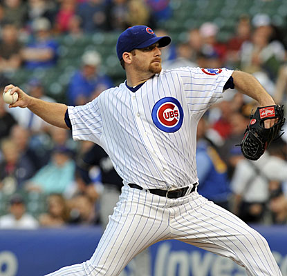 Ryan Dempster pitches seven solid innings vs. the Brewers, allowing four hits and striking out seven. (Getty Images)