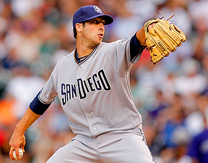 Anthony Bass allows five hits, walks four and strikes out one in five innings for the Padres. (Getty Images)