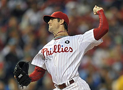 Not bad for a No. 4 starter: In his past six starts, Cole Hamels is 5-0 with a 1.64 ERA.  (Getty Images)
