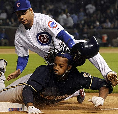 Rickie Weeks causes plenty of havoc during a long night at Wrigley Field that ends happily for Milwaukee.  (Getty Images)