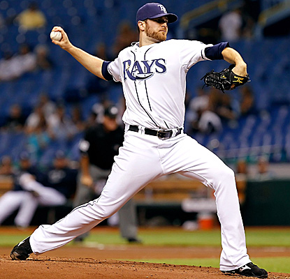 Rays starter Wade Davis goes six innings Friday, allowing one run, six hits and striking out two. (Getty Images)