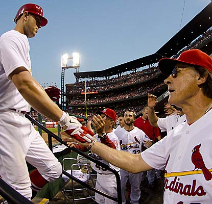 'It was huge. As big a hit as we've had all year,' Tony La Russa says on Matt Holliday's home run.  (US Presswire)