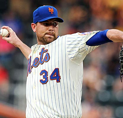 Mets starter Mike Pelfrey notches his third career complete game and his first since 2008.  (Getty Images)