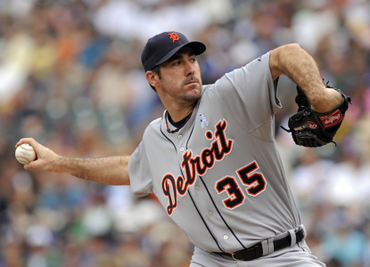 Justin Verlander gives up four hits to the Rockies during his second consecutive complete-game performance.  (AP)